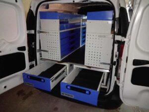 estrutura gavetas embaixo piso vans carrinhas furgões