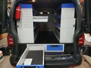 aumentar espaço cargas com gavetas para furgões