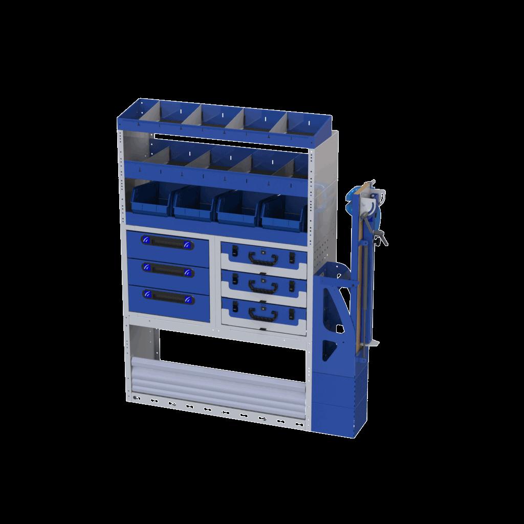 estantes móveis tecnolam furgões carrinhas de trabalho