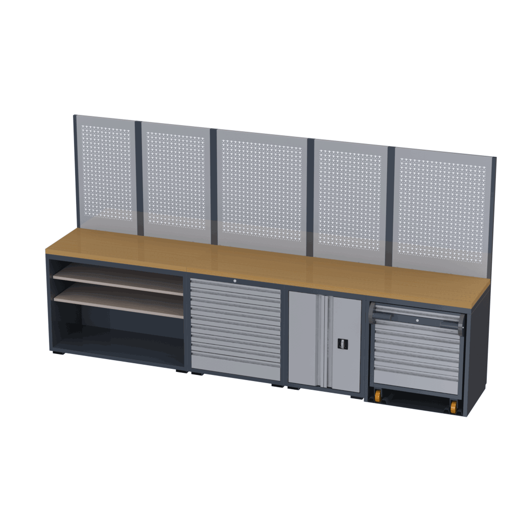 Techno-Line linha de móveis para oficinas modelo 2TLX