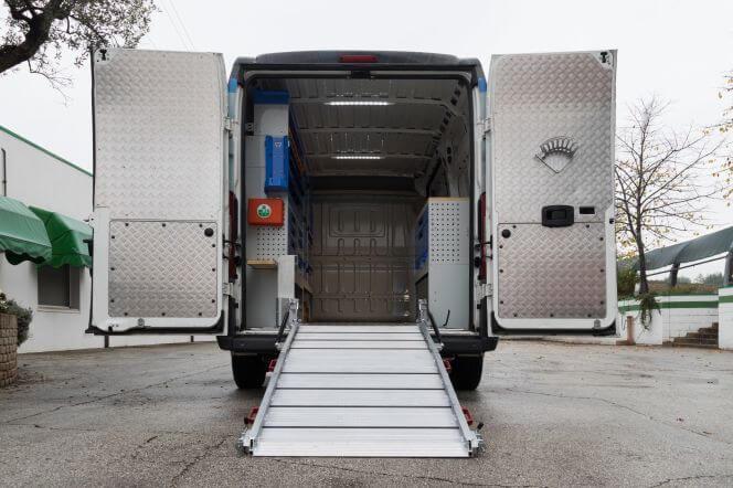 Rampas transporte carga carrinhas furgão tecnolam