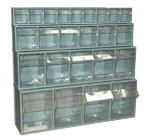 bloco de gavetas basculantes