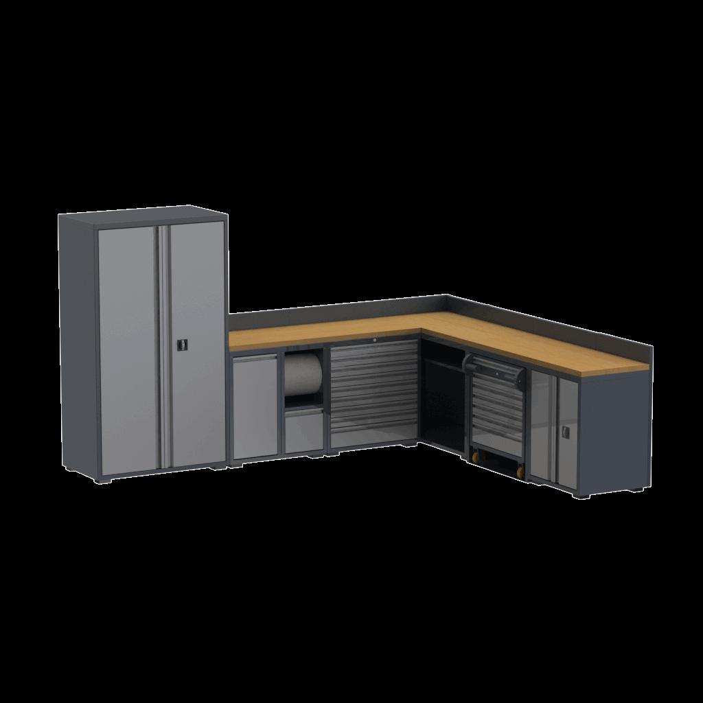 bancada oficina mecanica com armario