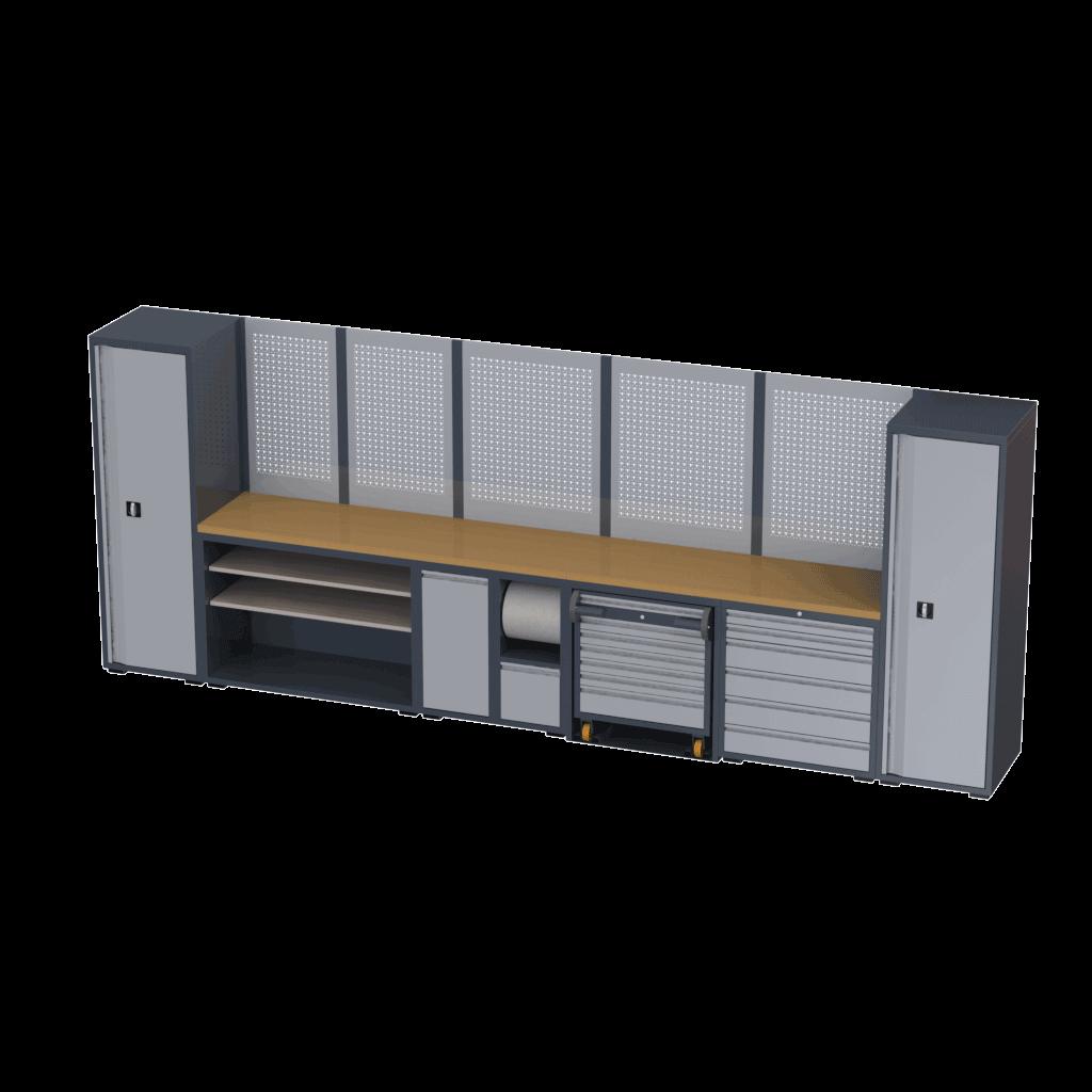 bancadas com armarios oficinas