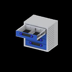 bloco de gavetas