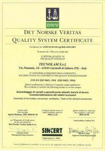 certificado de qualidade tecnolam