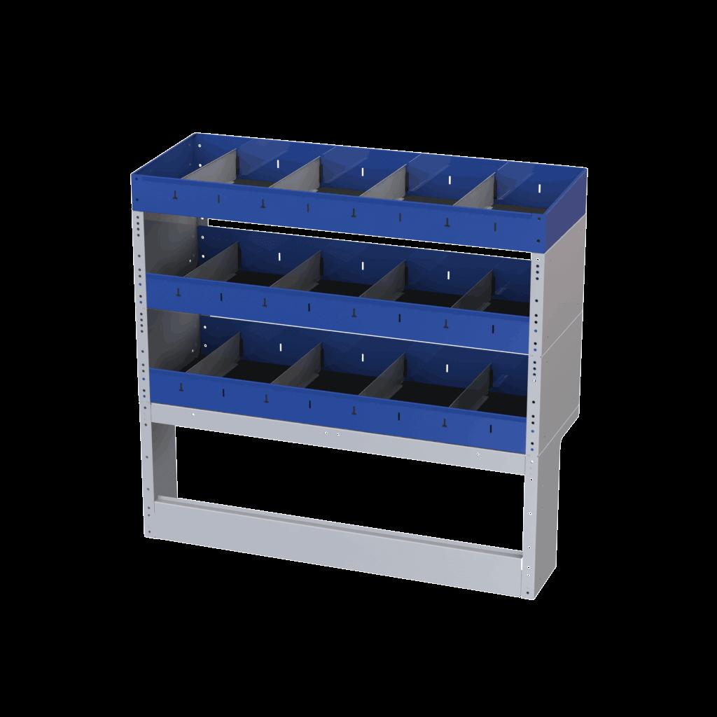 estrutura para compartimento carga furgão
