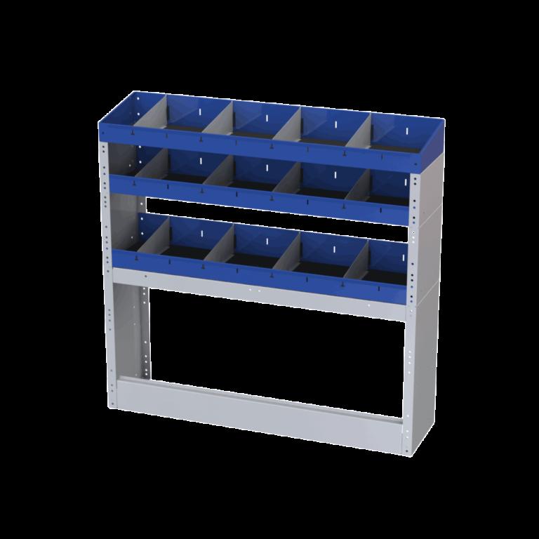 estrutura com divisorias furgões