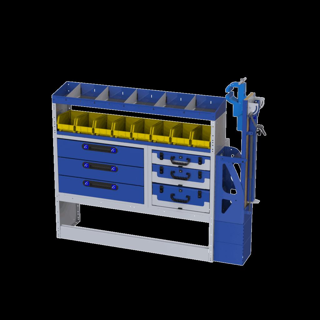 estrutura para compartimento carga transporter