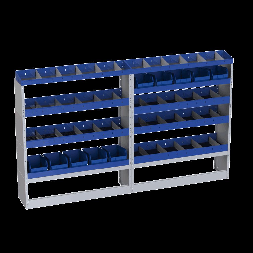 equipamentos furgão organizado