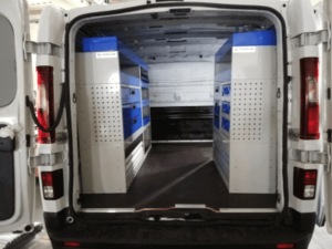 estantes tecnolam em furgões vans Fiat Talento