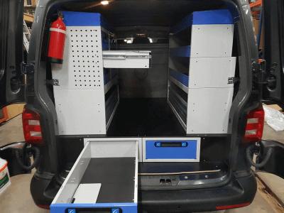 organize o compartimento de cargas do seu Transfporter VW