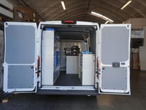 configuração interna oficina móvel ducato tecnolam